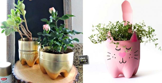 A Flower Vase Diy With A Plastic Bottle 17 Ideas
