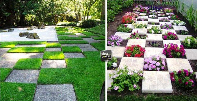 Posare le mattonelle da giardino 15 idee originali - Decorare piastrelle ...