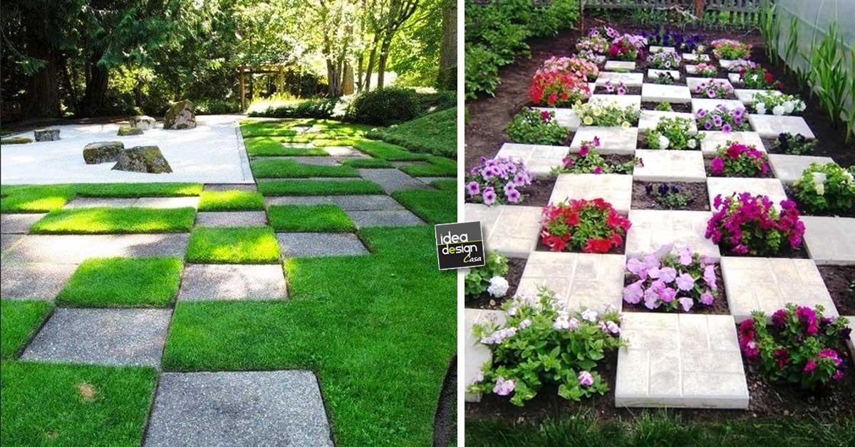 Posare le mattonelle da giardino 15 idee originali for Idee giardino shabby