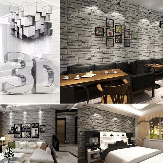 decorare le pareti di casa con le tavole adesive 3d ecco. Black Bedroom Furniture Sets. Home Design Ideas