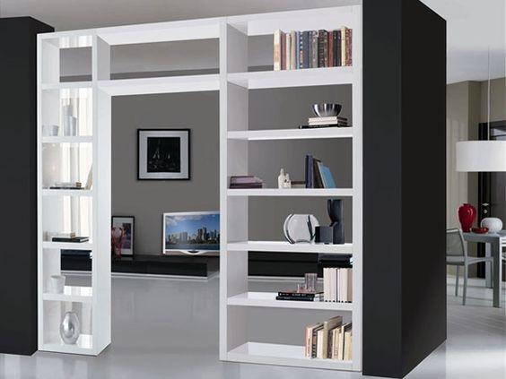 Dividere 2 ambienti dentro casa in modo originale e creativo 20 idee - Mobili separatori ...