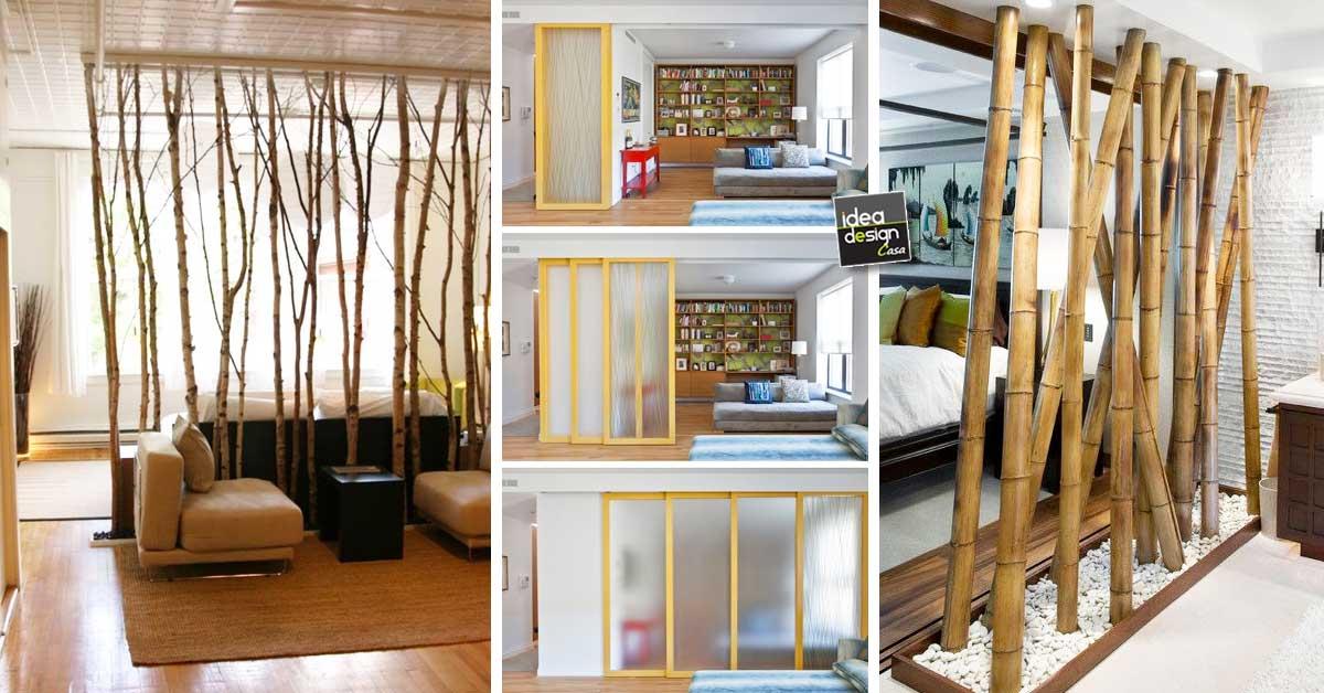 dividere 2 ambienti dentro casa in modo originale e