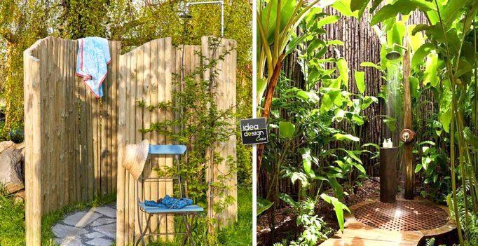 Una doccia da sogno in giardino per rinfrescarti d 39 estate 20 idee video tutorial - Docce da giardino in muratura ...
