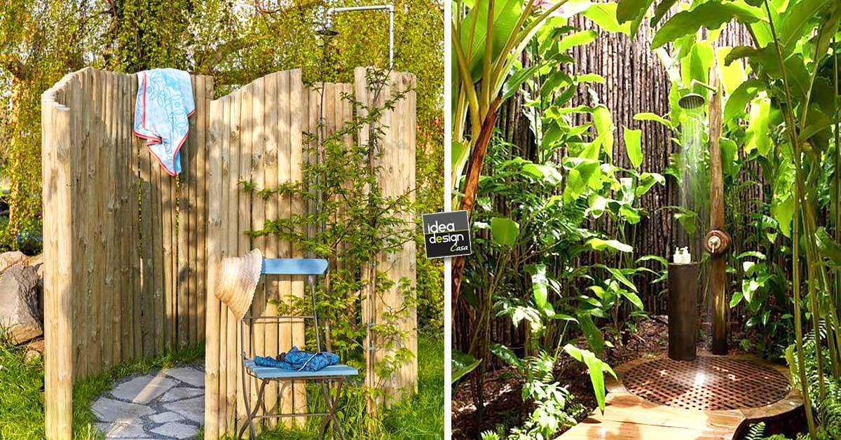 Una doccia da sogno in giardino per rinfrescarti d 39 estate - Doccia esterna da giardino ...