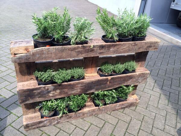 Fioriere da giardino fai da te realizzati con bancali 20 - Giardino pallet ...