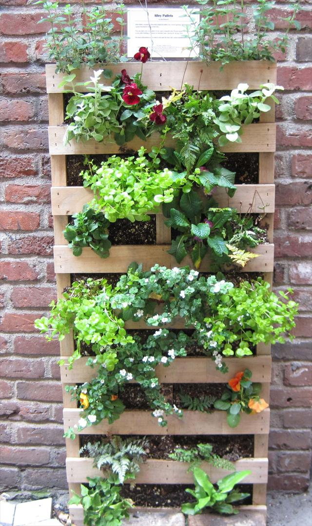 Build A Flower Box With Pallet To Decorate The Garden Idea 6