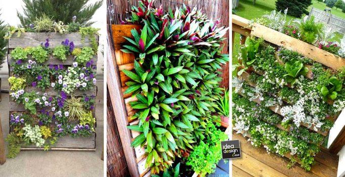 Jardineras con palets bonito diseo jardineras valla gom - Macetas hechas con palets ...