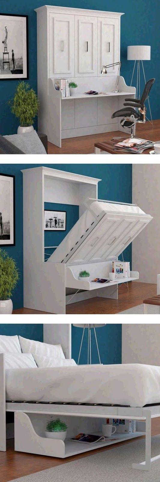 Soluzioni per un letto salvaspazio 20 idee lasciatevi for Bureau of the hidden ones