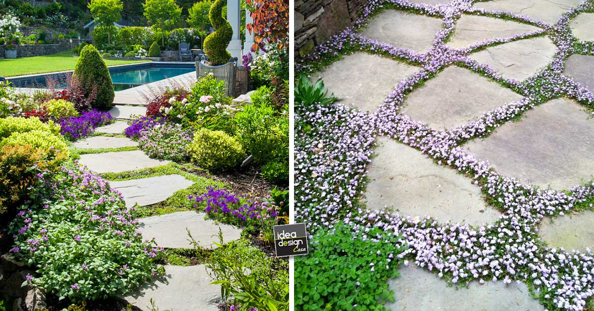 Un vialetto di pietra in giardino 20 esempi a cui for Esempi giardino
