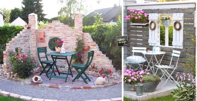 Salottino particolare in giardino 20 idee da cui trarre for Idee x giardino