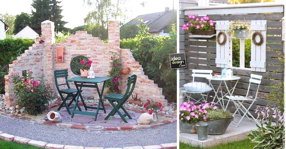 Salottino particolare in giardino 20 idee da cui trarre for Idea per giardino