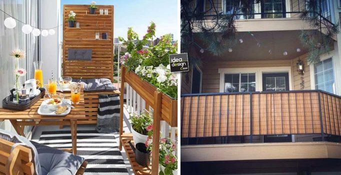 Privacy sul balcone ecco 20 idee lasciatevi ispirare for Idee arredo balcone