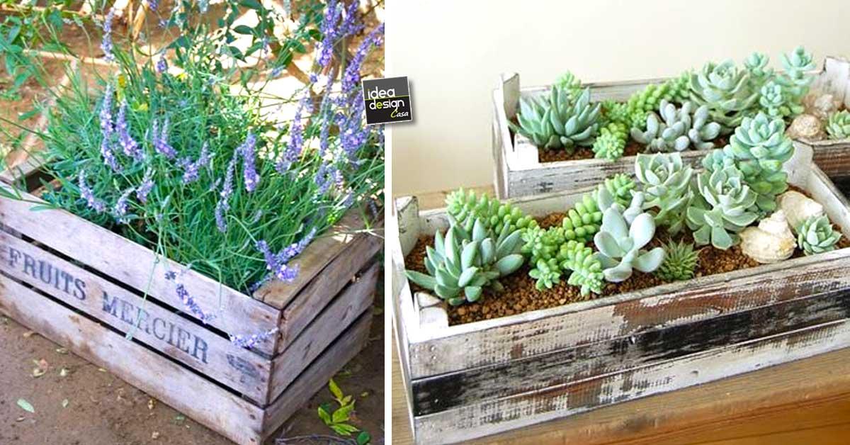 Amato Una piccola fioriera in una cassetta di legno! 20 idee a cui ZE91