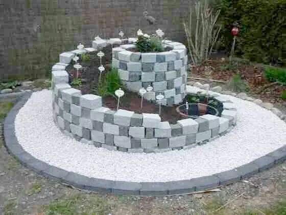 realizzare-un-aiuola-originale-a-spirale