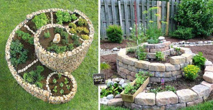 Realizzare un aiuola originale a forma di spirale 20 idee - Idee aiuole giardino ...