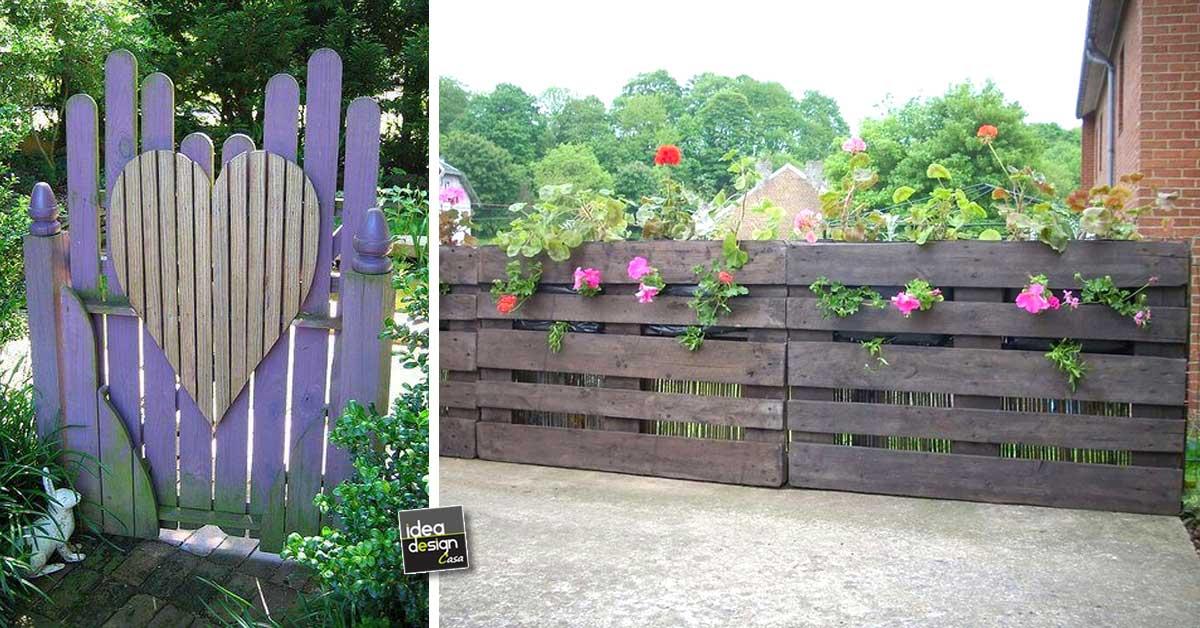 Recinzione in legno fai da te con i bancali 20 esempi video - Recinti in legno da giardino ...