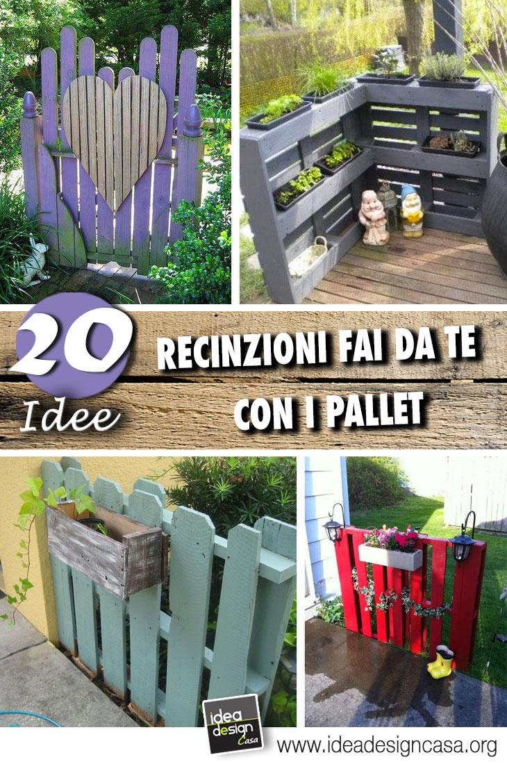 Recinzione in legno fai da te con i bancali 20 esempi video for Recinzioni giardino legno