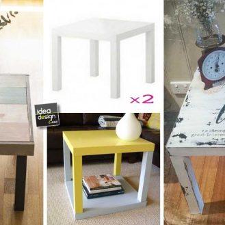 Riciclo creativo vecchio frigorifero 20 idee a cui for Tavolino ikea lack