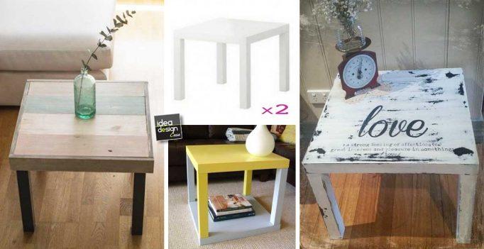 Divani Shabby Chic Ikea : Restyling del tavolino ikea lack di u20ac 5 99 15 idee originali
