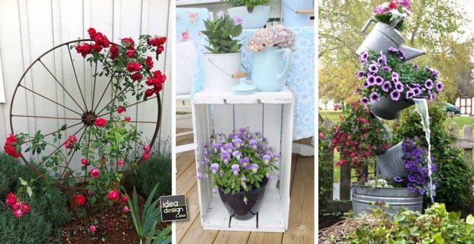 Riciclo creativo per decorare il giardino ecco 20 idee da - Oggetti per giardino ...