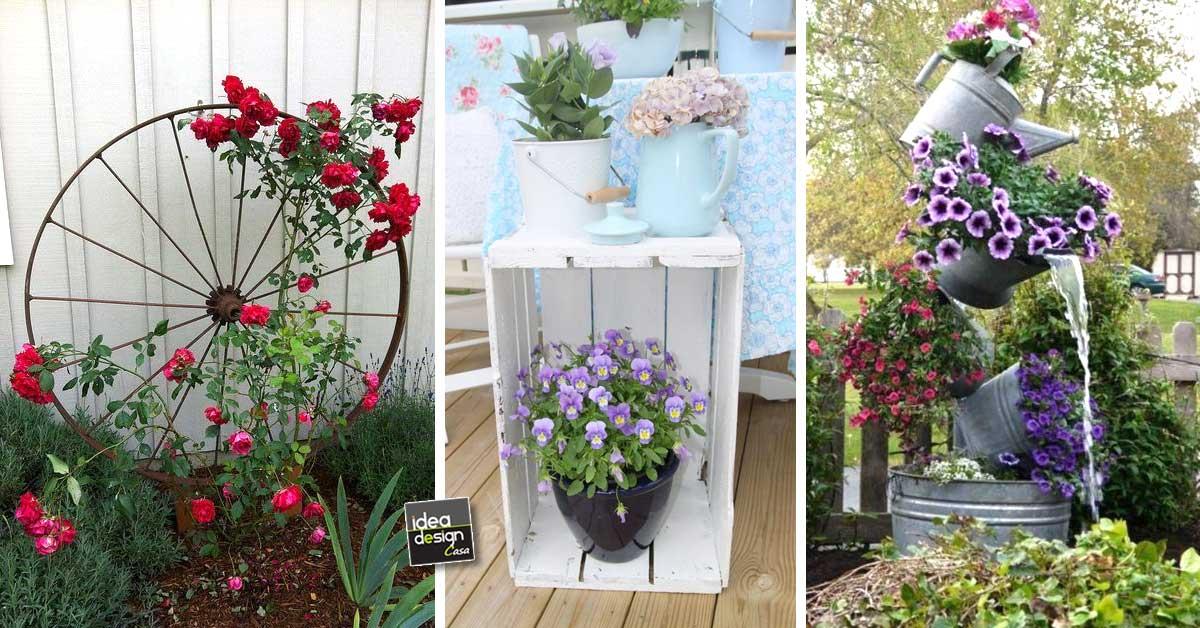 Riciclo creativo per decorare il giardino ecco 20 idee da - Idee per recinzioni giardino ...