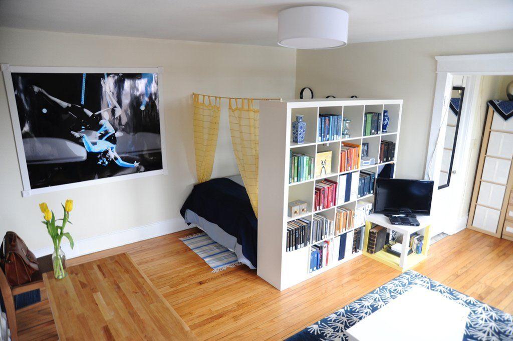 usare gli scaffali IKEA come separè