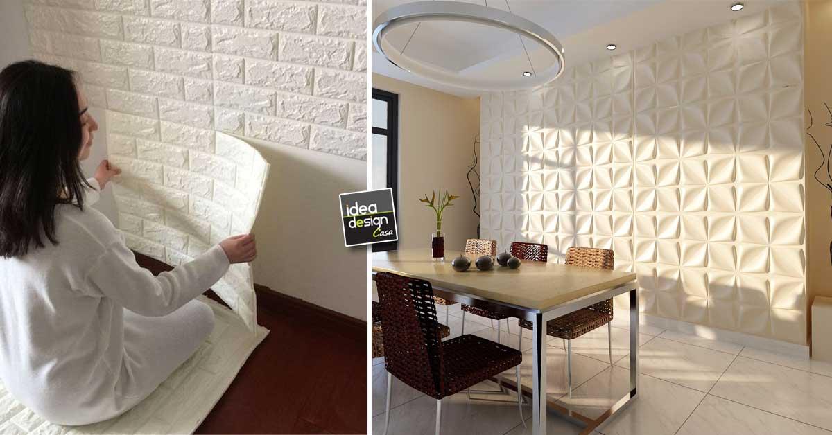 Decorare le pareti di casa con le tavole adesive 3d ecco for Tavole colori per pareti