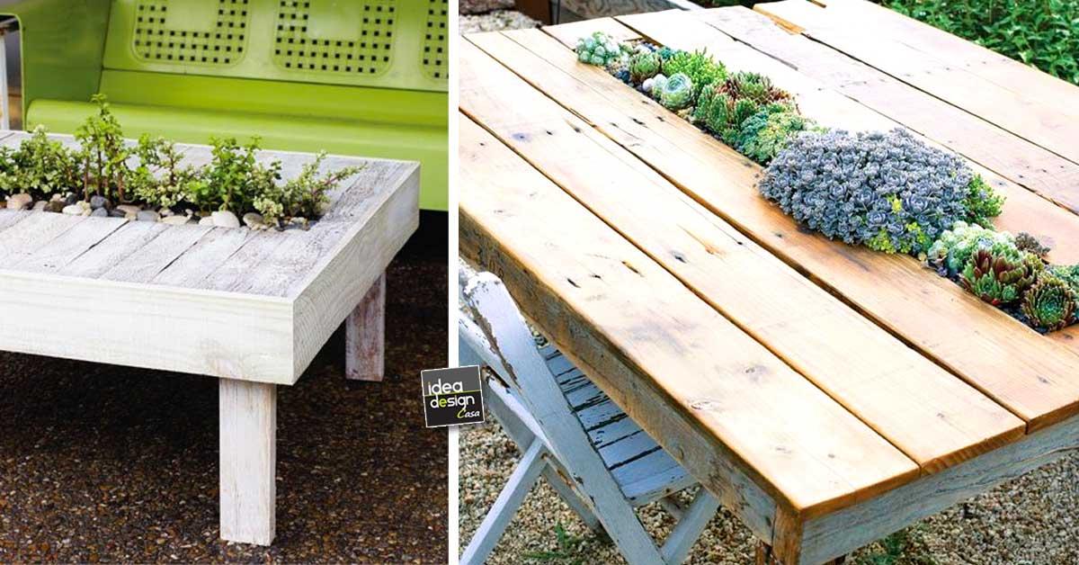 Un tavolino fai da te con fioriera integrata 15 idee for Design casa fai da te
