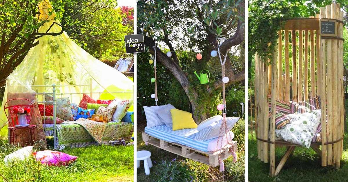 Un angoletto relax in giardino 20 idee per ispirarvi - Idee per creare un giardino ...