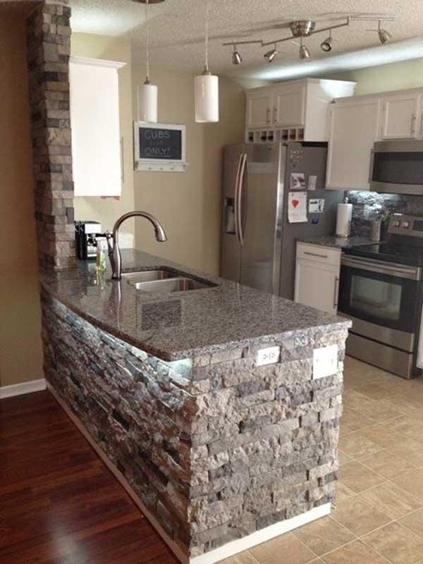 Decorazioni in pietra per la cucina! 20 idee stupende per ispirarvi...
