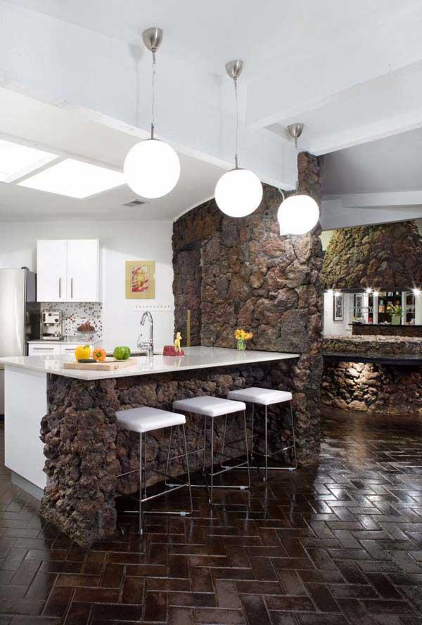 Decorazioni in pietra in cucina