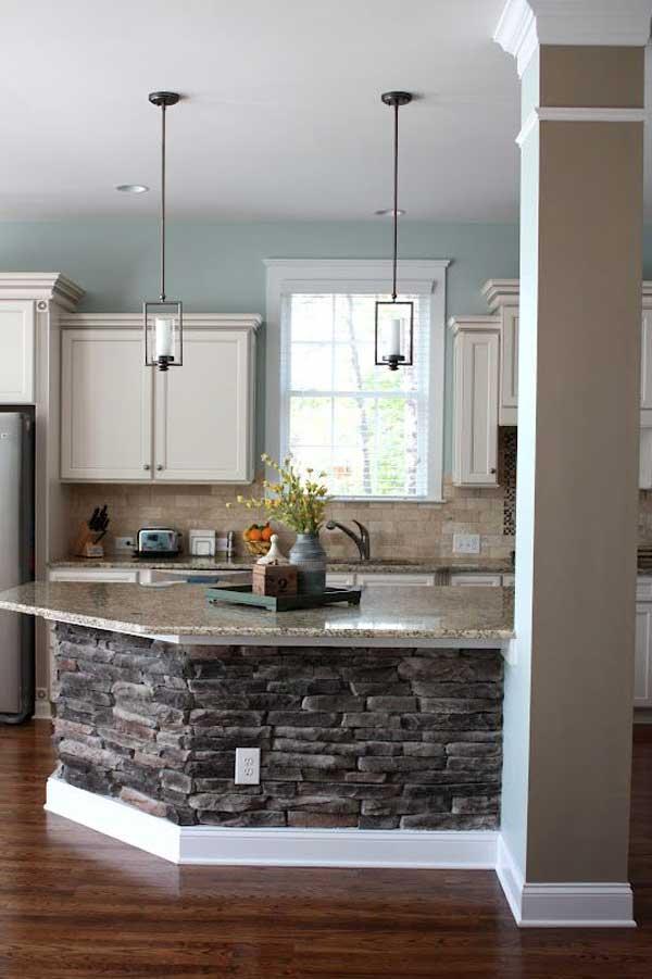 Decorazioni in pietra per la cucina