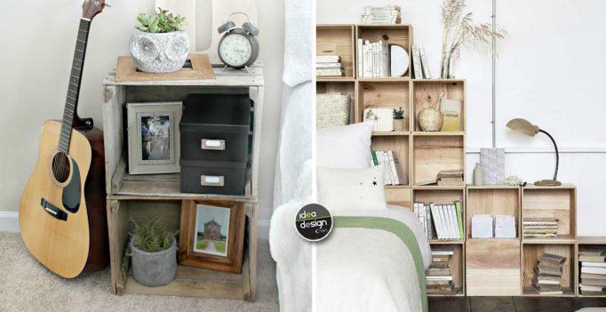 Credenza Con Cassette Frutta : Arredare la camera da letto con le cassette di legno! 20 idee per