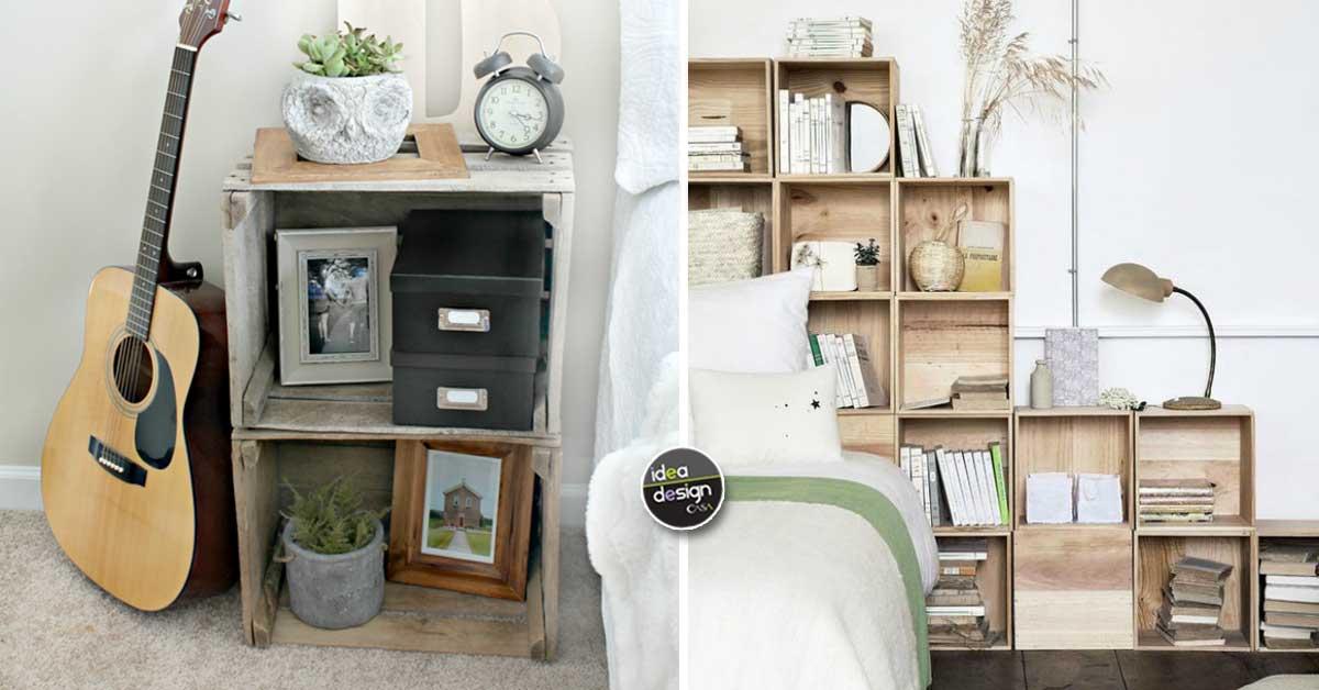 Cassette di legno per arredare la camera da letto! 20 idee ...