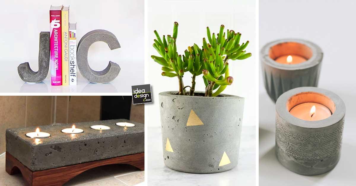 oggetti fai da te utilizzando il cemento 15 bellissime