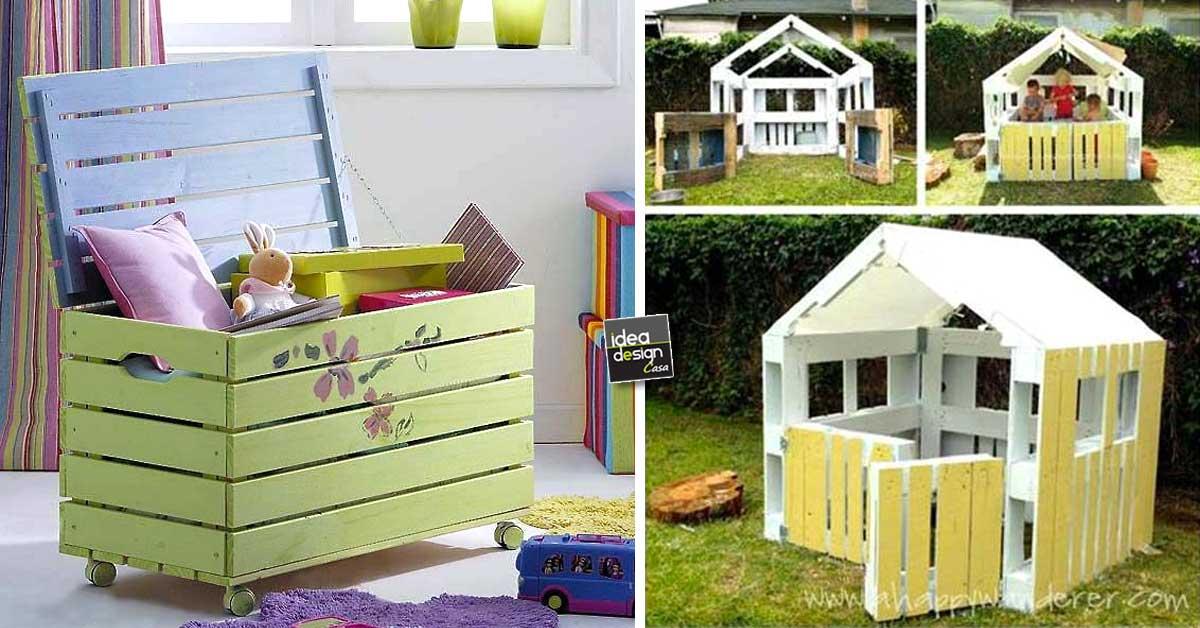 Creazioni realizzati con bancali per i bambini 20 idee for Creazioni casa fai da te