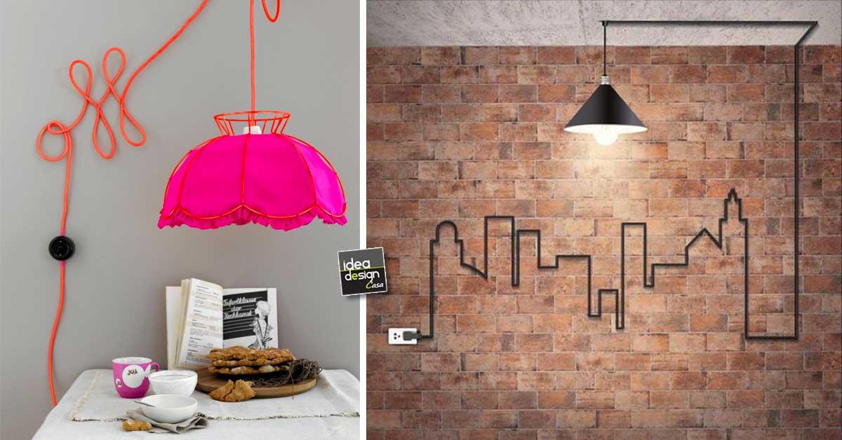 Trasformare i cavi elettrici in piccole opere d 39 arte 20 idee lasciatevi ispirare - Colori cavi elettrici casa ...