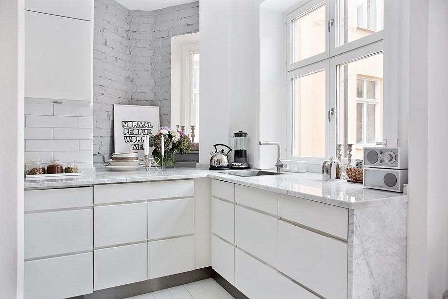 Mattoni a vista bianchi in cucina 20 bellissimi esempi da - Cucina a vista ...