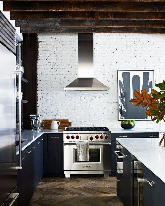 Mattoni a vista bianchi in cucina! 20 bellissimi esempi da vedere...