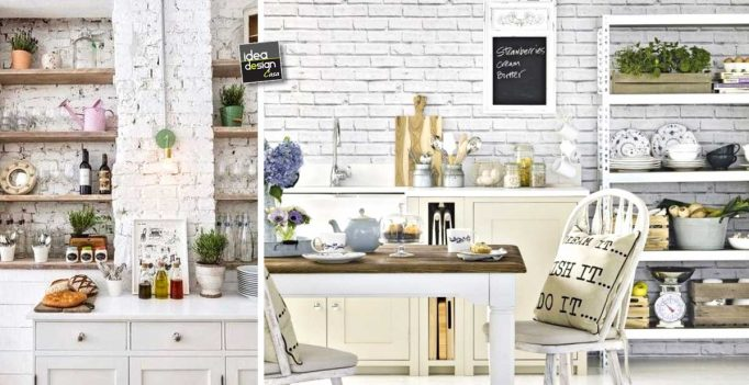 Mattoni a vista bianchi in cucina 20 bellissimi esempi da - Mattoni per cucina ...