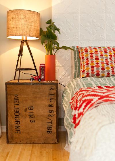 Arredare la camera da letto con le cassette di legno
