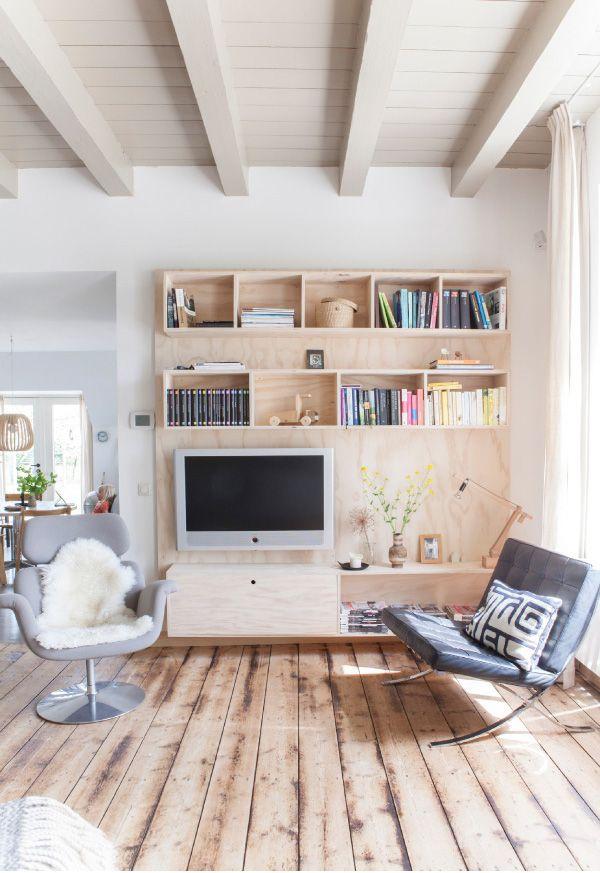 Legno chiaro per decorare casa