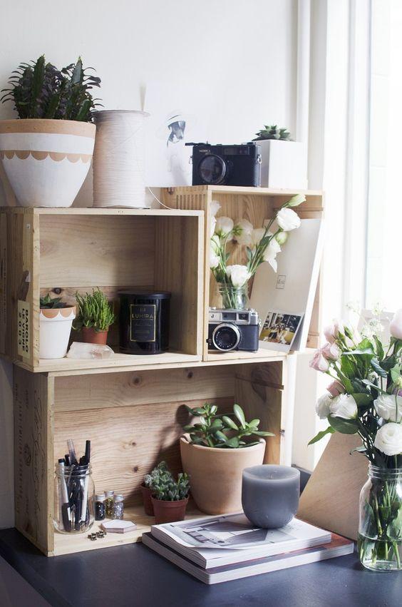 Composizioni con piante e cassette di legno 20 bellissime for Idea casa