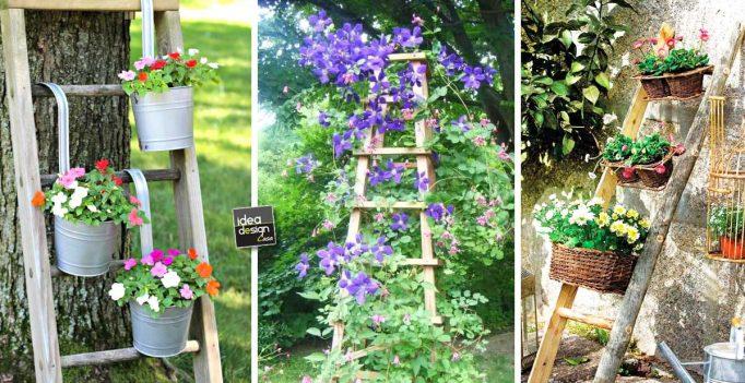 una vecchia scala per decorare in giardino 20 idee a cui. Black Bedroom Furniture Sets. Home Design Ideas