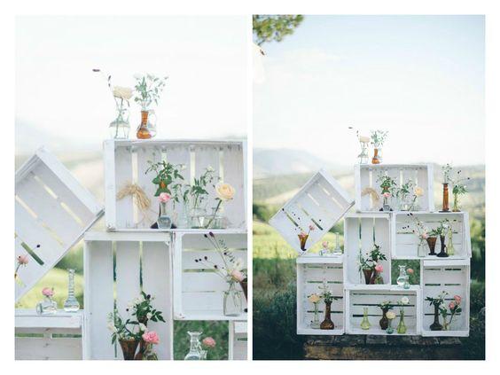 Decorazioni In Legno Per Giardino : Decorazioni esterne con le cassette di legno ecco splendide