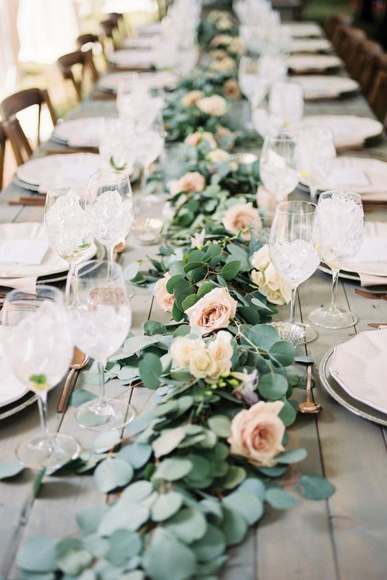 Popolare Decorazioni tavoli da matrimonio con le rose! 20 idee  BJ69