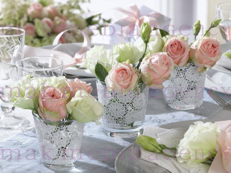 Decorazioni tavoli da matrimonio con le rose idee