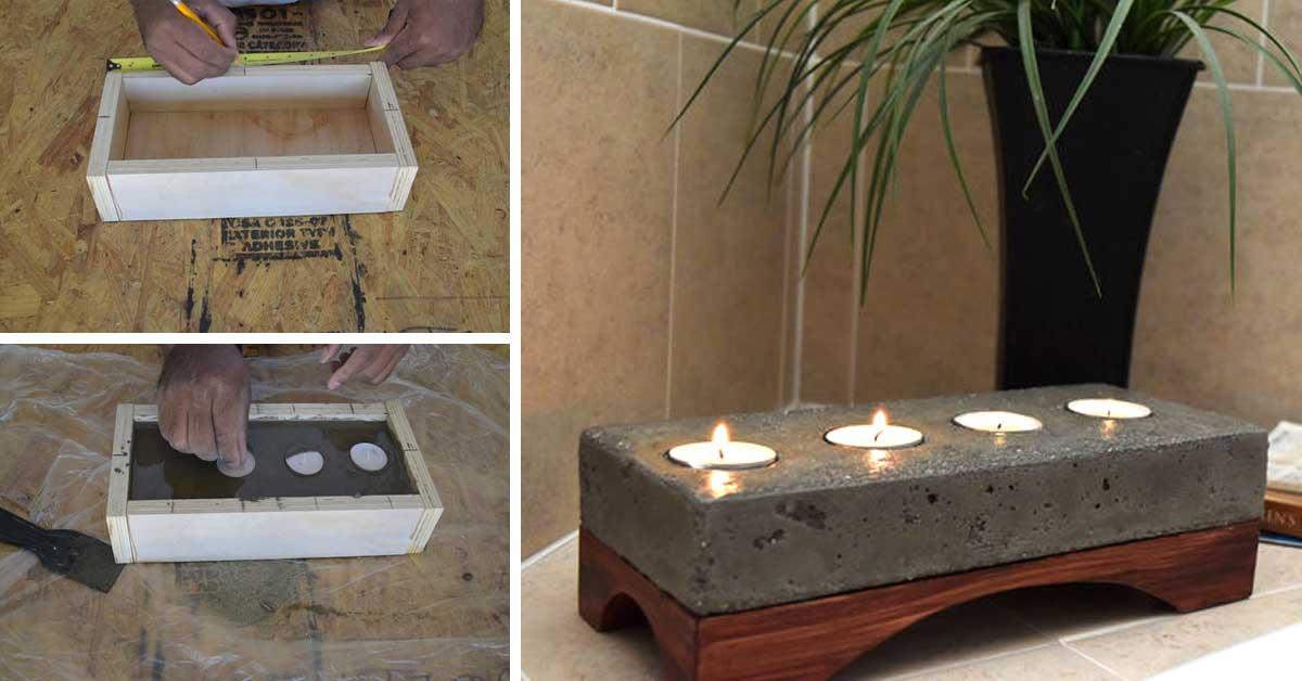 Oggetti fai da te utilizzando il cemento 15 bellissime for Oggetti fai da te per arredare casa