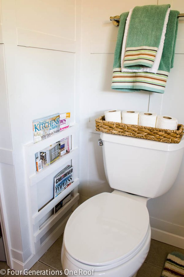 Decorazioni fai da te molto carine per il bagno 15 idee - Rinnovare bagno fai da te ...