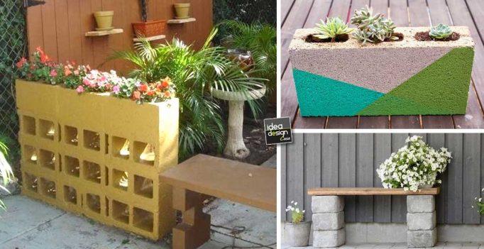Decorare il giardino con dei blocchi di cemento 20 idee for Abbellire giardino casa